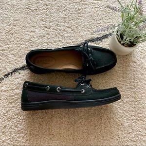 Sperry Top Siders Black Angelfish Boatshoes Sz 6